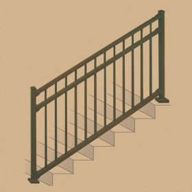 Riviera I Stair Rail Section Kits By Westbury Aluminum Railing