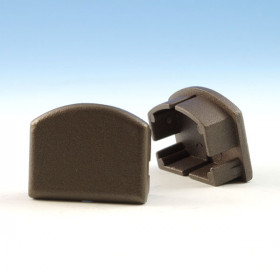 Skyline Top Rail End Plug - Bronze Fine Texture