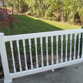 The Westport Vinyl Deck Railing by Durables - White