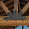 Truss Base Fan by OZCO Ornamental Wood Ties