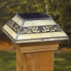 Deckorators Filigreed Leaf Solar Post Cap Light