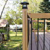 Wire Concealing Wood Trim by Acorn Deck Products