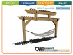 Ironwood Arbor Hammock Project Kit by OZCO Ornamental Wood Ties