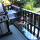 Folding Railing Table - Black - Installed
