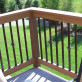 Dekor Square Aluminum Balusters paired with Dekor Square Casey Collar Balusters