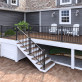 Deckorators ALX Classic Post Kit - Satin Black - installed with stair and level rail