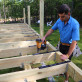 Attach the Step-Clip Hidden Fastening System directly to the joists with a nail gun or hammer easily.