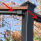 FE26 Iron Cap Rail Clip for Vertical Cable Railing Panel by Fortress - Installed