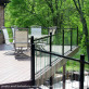FE26 Iron Rails for Pure View Glass Rail by Fortress - Gloss Black