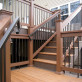 FE26 Iron Square Handrail by Fortress - Antique Bronze