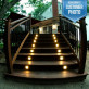 Moab Recessed LED Riser Light by Highpoint Deck Lighting - installed