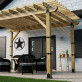 Laredo Sunset Column Cap - Installed on Pergola