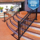 Riviera Stair Rail Section Kits By Westbury Aluminum Railing - Black Fine Texture