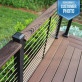 Skyline Cable Railing System with Drink Rail Adapter