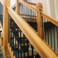 """Traditional Deck Railing Kit by Vista - installed - Stairs with <a href=""""/angle-adapters-by-vista.html"""">Stair Baluster Adapters</a>"""