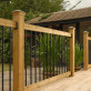 Traditional Deck Railing Kit by Vista - Installed - Level