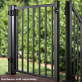 Signature Adjustable Aluminum Gate by Trex - Charcoal Black