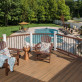 Create a total backyard view coordinating your furniture with Trex Transcend railing and underscoring with Trex Transcend decking in Tiki Torch.