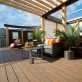 Accentuate your open-air spaces with complementary Trex Transcend decking in Havana Gold.
