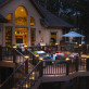 Create a bright, magical outdoor gathering place with the beautiful look of the TimberTech LED Post Light Modules installed along your deck railing.