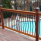 Tuscany Level Deck Railing Kit by Vista - installed