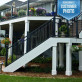 FE26 Iron Stair Vertical Cable Railing Panel by Fortress - Courtesy of Phi Decks