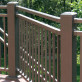 Riviera Level Rail Section Kits By Westbury Aluminum Railing - Bronze Fine Texture