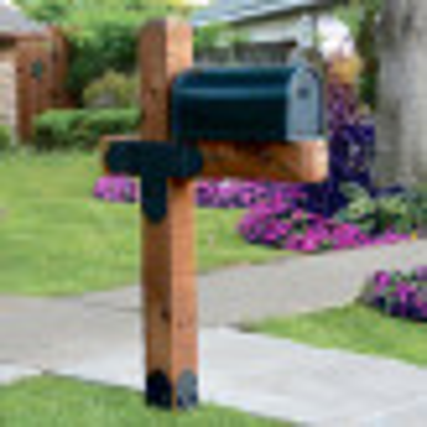 Laredo Sunset Estate Mailbox Post Project Kit by OZCO Ornamental Wood Ties