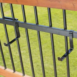 A Standard Bracket Bundle by Hold It Mate can include a longer 36 inch mounting rail to fulfill your railing space and design.