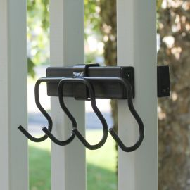 Inconspicuous and convenient, the Tool Hook Bundle by Hold It Mate simply holds tight against your vertical deck balusters for the perfect accessory.