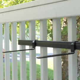 The Shelf Bracket Bundle by Hold It Mate attaches directly to your installed vertical balusters for a damage-free shelf with zero drilling!