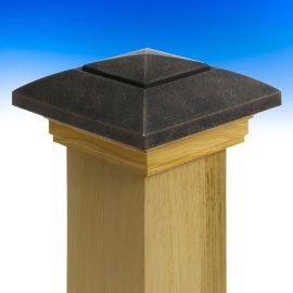 Designer Post Cap by Deckorators in Oil Rubbed Bronze.
