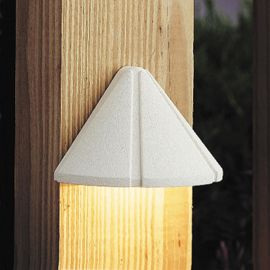 Kichler Mini Deck Light-Textured White-LED-2700K Warm White