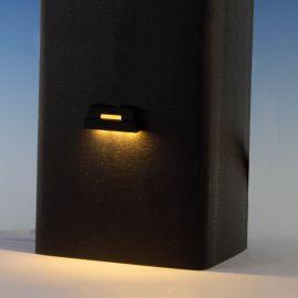 Ornamental Low Voltage LED Side Light by LMT Mercer - Black - Warm 3K