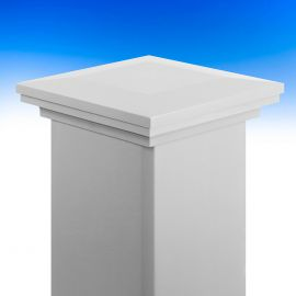 Ornamental Post Cap for Trex Post Sleeves by LMT Mercer Group - Classic White