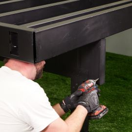 Protect your deck build by installing Fortress Evolution Beam and Joist Caps.