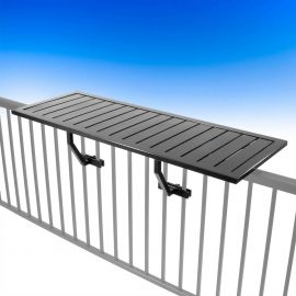 Deckorators Aluminum Rail Table - Black - Installed