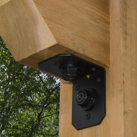 Ironwood Rafter Clips by OZCO Ornamental Wood Ties - 4 in Installed