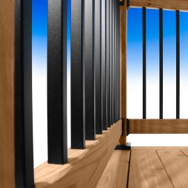 Mega Series Square Balusters by Fortress -Black Sand-26 in