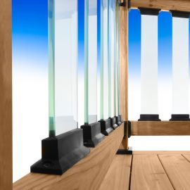 Frontier Glass Balusters by Deckorators-Clear-26 in