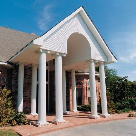 AFCO Round Fluted Aluminum Column Post Kits - Installed