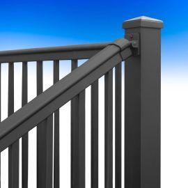 AFCO Pro Adjustable Stair Rails - Textured Black - Installed