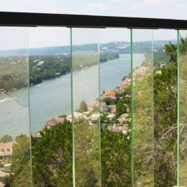 AL13 Glass Balusters for Pure View Glass Rail by Fortress