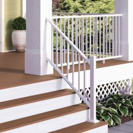 ALX Classic Stair Railing Kit by Deckorators - Posts Sold Separately - Textured White