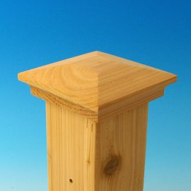 Amherst Demi-Top Post Cap by Acorn - Cedar material - 3-5/8 inch