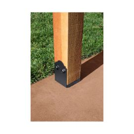 Outdoor Accents Mission Collection Adjustable Post Base by Simpson Strong-Tie - 6 in x 6 in - installed