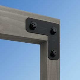 Galvanized and powder-coated steel make the Avant L Strap from Simpson Strong-Tie strong and stylish.