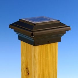 Aurora Deck Lighting-Aries Solar Post Light-4-1/16 in-Black