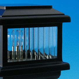 Ribbed Glass Replacement For Aurora Post Cap Lights - LIGHT NOT INCLUDED