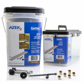 The Collated Cortex Concealed Fastening System is available in packs of 350 or 1050.